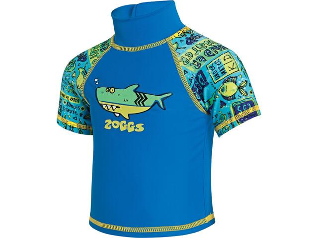 Zoggs Deep Sea Sun Top T-shirt Kinderen, blu china/green